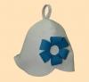 Женская шапка для бани «Кокетка» с бантом-цветочком