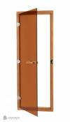 Стеклянная дверь бронза SAWO Кедр (с порогом)