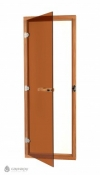 Стеклянная дверь бронза SAWO осина (с порогом)
