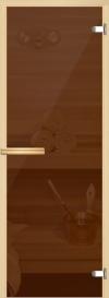 Дверь для сауны Бронза прозрачная 800*2000